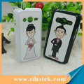 Blank sublimation cases for SAMSUNG Ace 4 with metal inserts