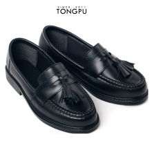 Tongpu PVC material no lace ladies black formal shoes women