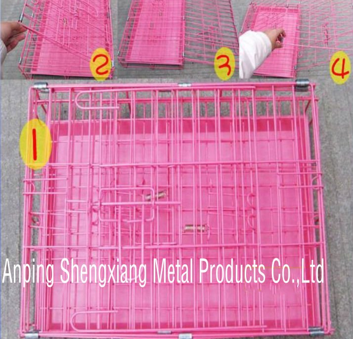galvanized or pvc coated welded wire Pet Cage (factory)