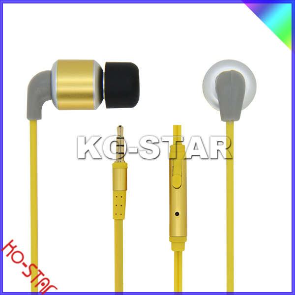 Super great stereo gold plated in ear noise isolating METAL EARPHONE for htc,new designer earphones(KEM-901)