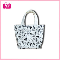 Promotional shopping handle canvas tote bag