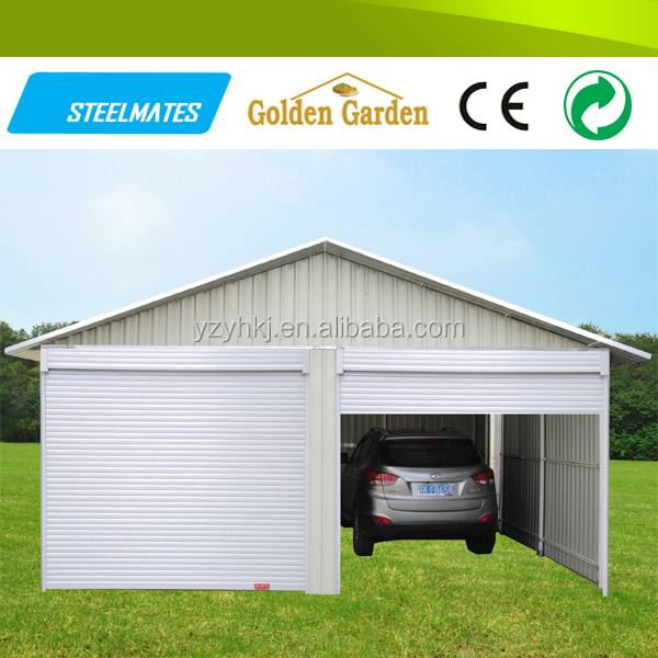 steel large size 2 cars Prefabricated house germany