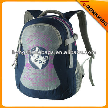 dark blue child school bag