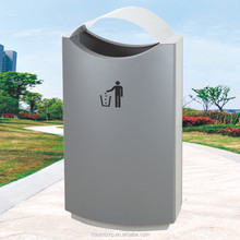 Fashion design metal trash can