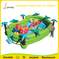 Supplier Price EN146960 Certificate Cute Inflatable Oasis Toddler Bouncers, Baby Bouncer for Toddlers