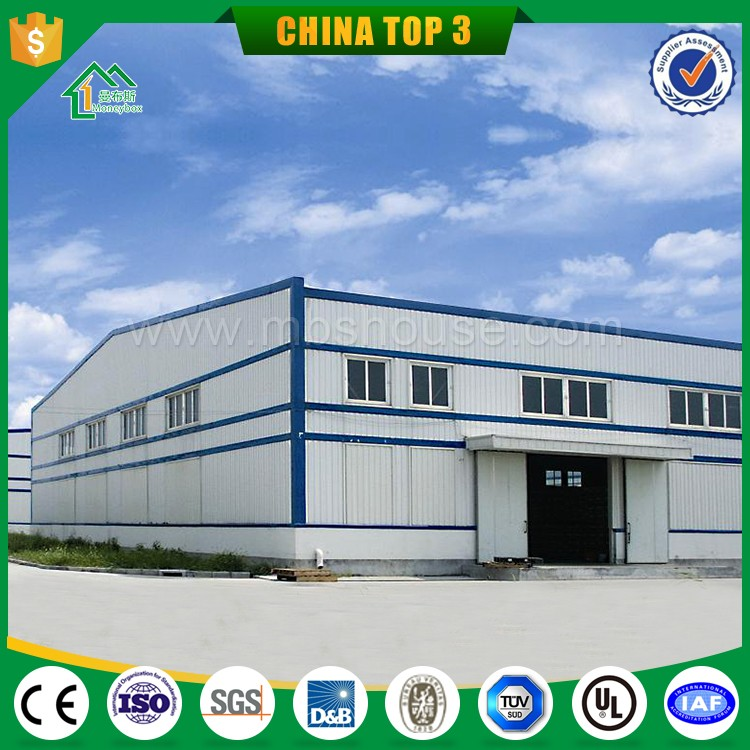 Heavy Steel Warehouse Layout Design Sandwich Panel Poultry Farm Construction