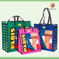 high quality customized pp woven beach bag