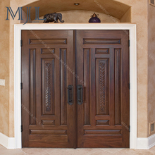 2017 New Style Quality Product Black Walnut Opening Inward Wooden Interior Door