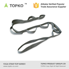 TOPKO Wholesale manufacturer yoga sling cotton loops yoga belt stretching strap