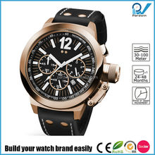 Build your watch brand easily stainless steel case watch manufacturers in china with japan movement