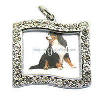 Special Irregular Rectangle Shape Photo Frame Jewelry Keychain Wholesale