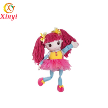 Lovely small plush baby toys soft stuffed girl doll plush rag doll