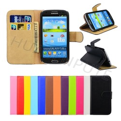 Low Price China Mobile Phone Cases for S3 Wallet Leather Case