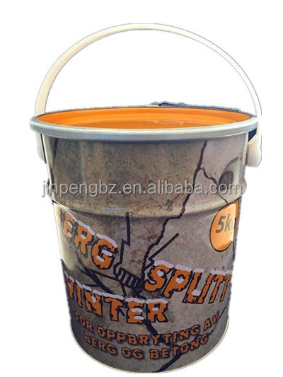 20L printedand locked metal bucket for paint/coating or other chemical packing