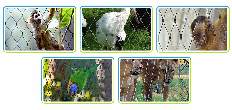 Cheap Animal Zoo Protective Wire Cable Rope Mesh Fence Net