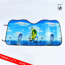 PE bubble car front sun shade with customized logo