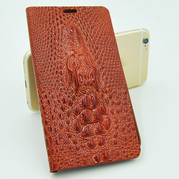 Crocodile pattern PU leather flip wallet cell phone case for Samsung s4 s5 s6 case