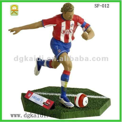 Promotional soccer player figures