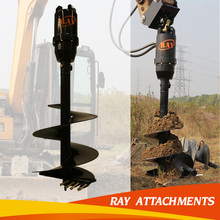 hydraulic earth auger for enlarge hole drill bits