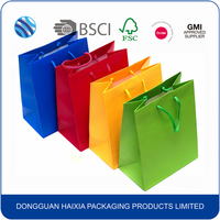 Wholesale custom printed paper printed shopping gift bag with cotton handle
