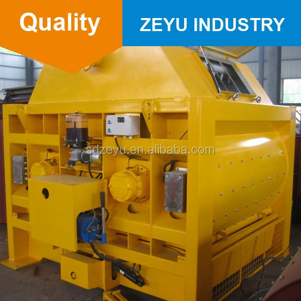 JS2000 twin shaft self loading concrete mixer with spare part