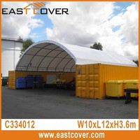 33x40x12 ft W12xL12x3.6m factory direct low cost steel frame dome shipping container tent