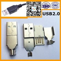 Hot Saling Iron 2.0 High Quality Usb Double Stack Connector