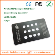 HUA001-SU3 Brand New USB3.0 SATA External Digital Encrypted HDD Case/Housing for External Hardisk