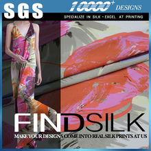 SGS approved hellosilk brand custom digital print silk fabric for shoes
