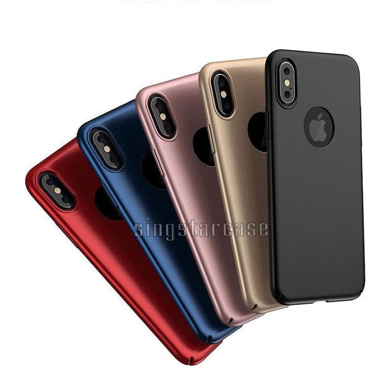 Factory Price Super Slim Matte PC Plastic Hard Case Cover For iPhonex <strong>iPhone</strong> 8 Cases 360 Ultra-thin Metallic Paint