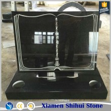 Shihui natural stone book shaped tombstone