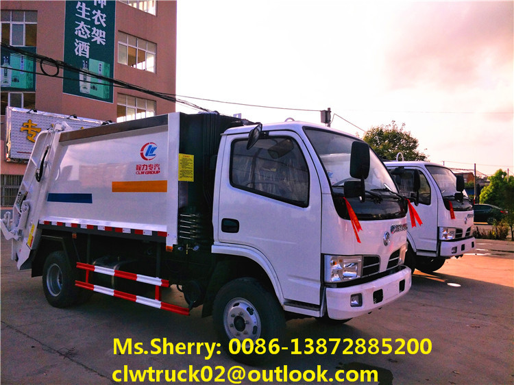 Chengli OEM Dongfeng 4*2 small compactor garbage truck for sale in Sri Lanka