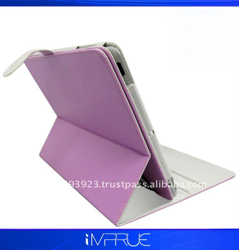 Magnetic leather case for Ipad2 with stand holder 360 ratation