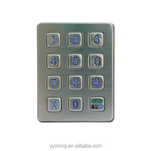 metal 3x4 mini keypad with front panel mount numeric keypad