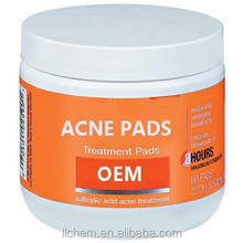 Private label anti acne treatment wet wipes for pimples