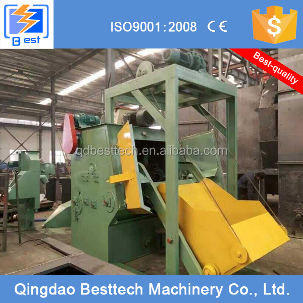 28GN metal surface cleaning equipment, shot blast machine, polishing machine for edges steel
