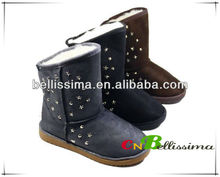 Fashionable Star Rivet Cheap Snow Boots For Girls CL070101