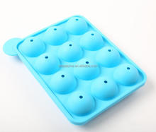 FDA & LFGB Approved 12-cavitySilicone Cake Pop Mold Silicone Lollypop Baking Mold