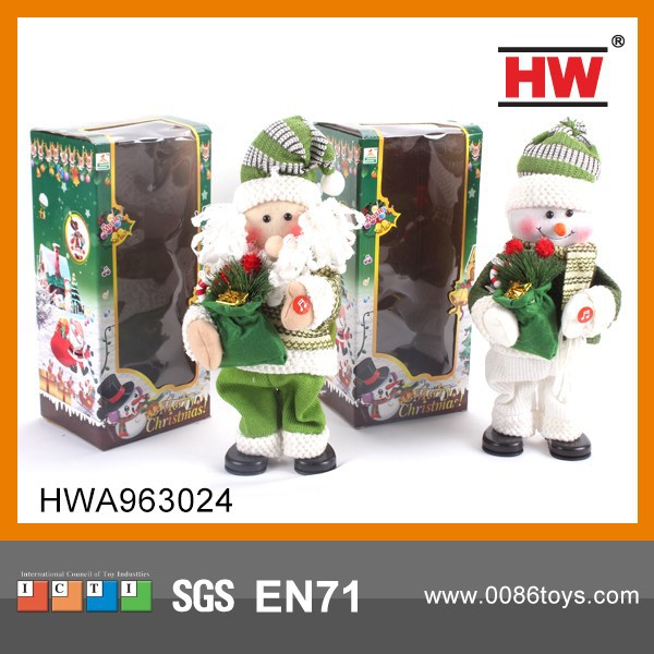 High Quality BO 14 Inch Dancing Singing Santa/Snowman (Battery Included)