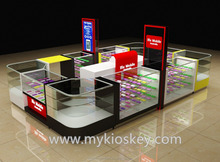 Newly cell phone accessories kiosk for mobile phone store