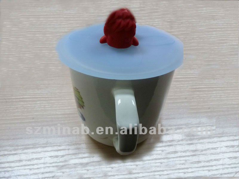 silicone dustproof tea cup lid /cover