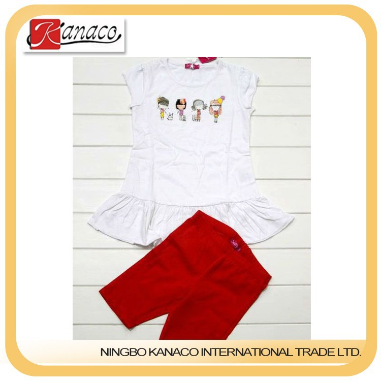 New-designed Kid Clothes Sets for Girls(KN-CS-04)
