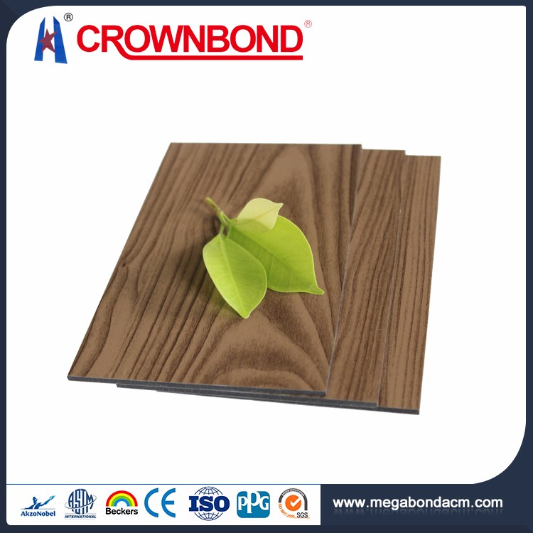 Crownbond wood effect acp,acp wood products,wooden finish acp building decorative material
