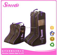 Promotional Recycled Polyester Drawstring Shoe Bag With Zipper