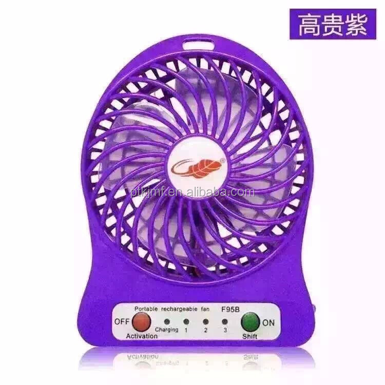 USB Fan Mini Electric Personal with LED Light Portable Rechargeable Desktop Fan Battery Cooling Operated Lithium