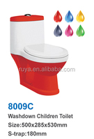 colour Small size chilren toilet , with colour cover toliet, washdown children size toilet