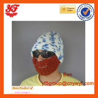 Iceland Yarn Beanie Mask Face New Arrival Wacky Beard Men Boy