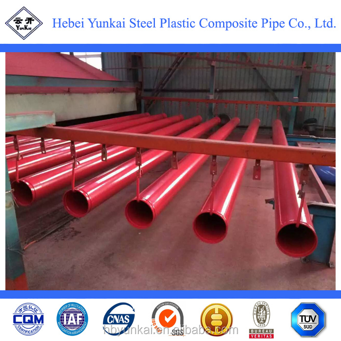 fire resistant fire plastic coated steel pipe