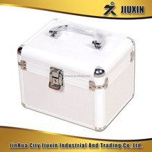 High quality aluminium multi-functional makeup case, silver jewelry case with lock, aluminum storage case for hold any tools