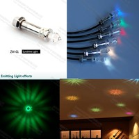 ZW-01 6 packed optic fiber sky star ceiling light fixture for home sauna room decoration